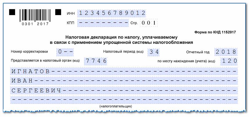 Образец заполнения декларации по УСН в 2019 году, куда сдавать и в какие сроки, штрафы